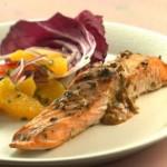 Salmone grigliato con sapori nordafricani